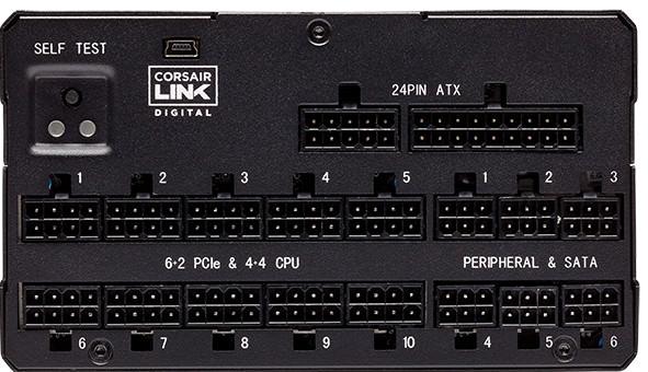Corsair AX1600i Output